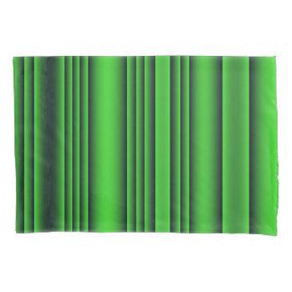 Housse D'oreillers Rayures de vert et de noir de chaux
