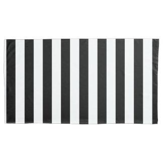 Housse D'oreillers Rayures verticales noires