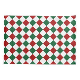 Housse D'oreillers Rouge et vert