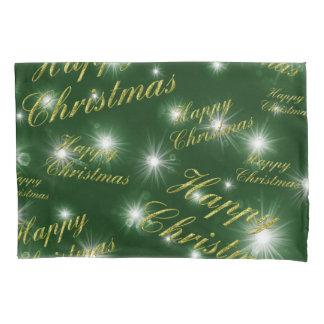 Housse D'oreillers texte de Noël heureux