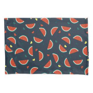Housse D'oreillers Tranches de pastèque avec le motif de coeurs