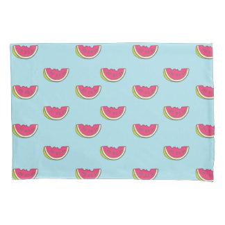 Housse D'oreillers Tranches de pastèque sur le motif turquoise