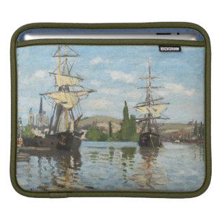 Housse iPad Bateaux de Claude Monet | montant sur la Seine à