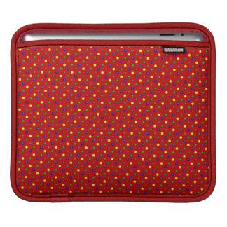Housse iPad Douille Rouge-iPad de pois primaire horizontale