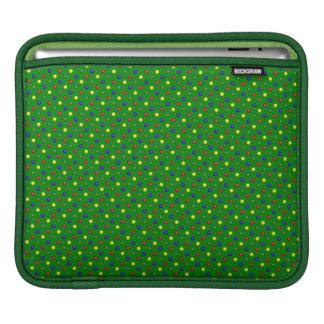 Housse iPad Douille Verte-iPad de pois primaire horizontale