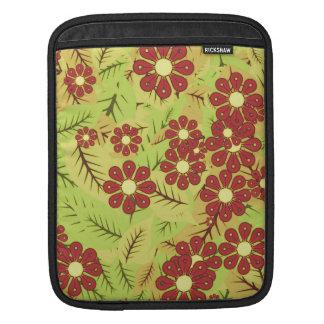 Housse iPad Feuillage et fleurs