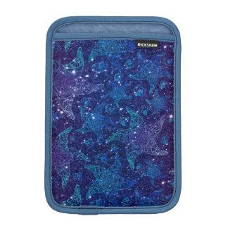 Housse iPad Mini Étoiles de mer bleues profondes mystiques sur des