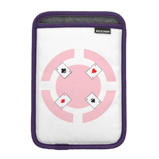 Housse iPad Mini Jeton de poker - rose