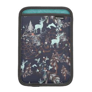 Housse iPad Mini Lueur dans le motif tribal de boho foncé de nature