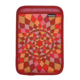 Housse iPad Mini mandala rouge-rose cramoisi rouge de Pinata
