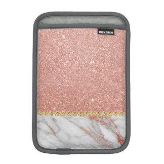 Housse iPad Mini Parties scintillantes d'or de rose de rose et