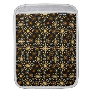 Housse iPad Motif d'or et argenté de flocons de neige de fête