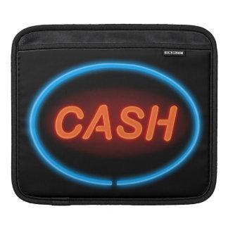 Housse iPad Néon d'argent liquide