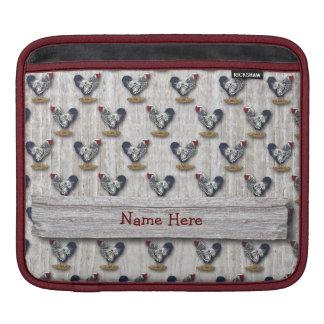 Housse iPad Panneaux de grange de coqs de Wyandotte lacés par