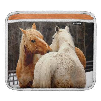 Housse iPad Photo équine de chevaux affectueux