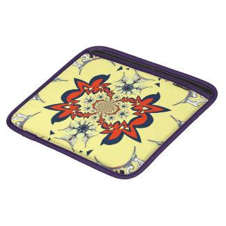 Housse iPad Rétro conception florale vintage mignonne d'art de