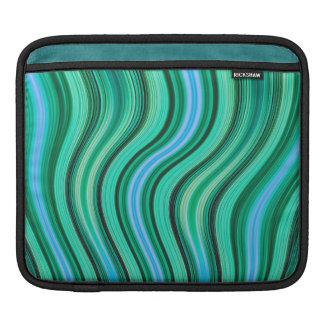 Housse iPad Rétro douille verte d'ipad de motif de rayures