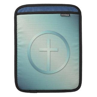 Housse iPad Rétro graphique croisé d'emblème