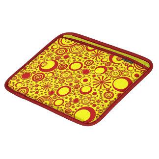 Housse iPad Ronds, douille Rouge-Jaune d'iPad horizontale