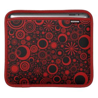 Housse iPad Ronds, douille Rouge-Noire d'iPad horizontale
