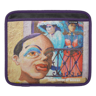 Housse iPad Trois visages de femme - douille de scènes de rue