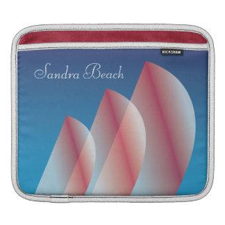 Housse iPad Voiles translucides d'écarlate de ciel bleu de Tri