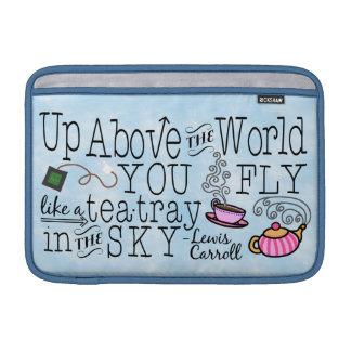 Housse Macbook Air Alice dans la citation lunatique de Carroll de thé