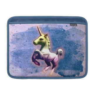 Housse Macbook Air Douille d'air de Macbook de licorne (bleu brûlé)