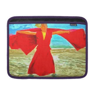 Housse Macbook Air Le moine superbe d'ajustement en rouge