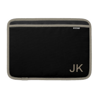 Housse Macbook Air Personnaliser simplement noire de couleur solide