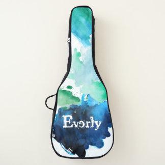Housse Pour Guitare À la mode votre vert bleu d'aquarelle abstraite