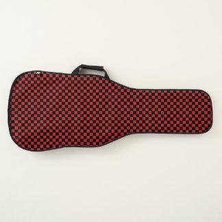 Housse Pour Guitare cool checkered noir et de rouge
