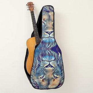 Housse Pour Guitare Coutume d'art d'aerographe de lion de roche pro