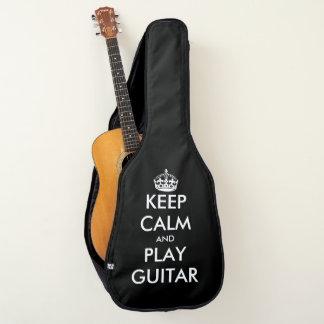 Housse Pour Guitare Drôle gardez la monture filtre de guitare de calme