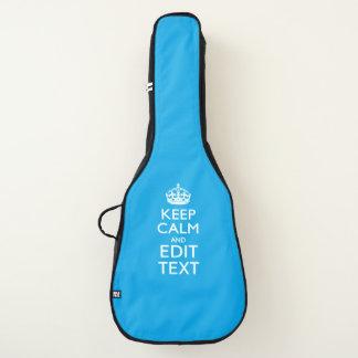 Housse Pour Guitare Gardez le calme et votre texte sur le bleu de ciel