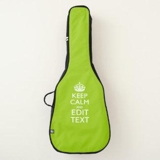 Housse Pour Guitare Gardez le calme et votre texte sur le vert de