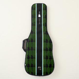 Housse Pour Guitare grande rayure + nom de guitariste. un cool