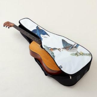 Housse Pour Guitare La faune d'oiseau d'oiseau bleu d'Audubon fleurit