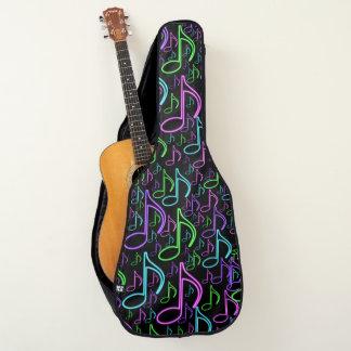 Housse Pour Guitare Motif au néon lumineux de note de musique de cool