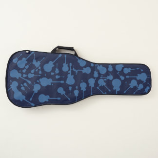 Housse Pour Guitare motif des guitares bleues sur le cool