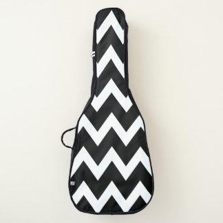 Housse Pour Guitare Motif noir et blanc de rayures de Chevron