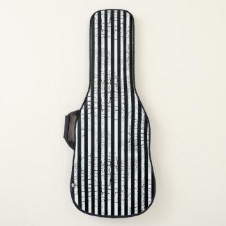 Housse Pour Guitare rayures blanches longitudinales sur le noir