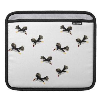 Housse Pour iPad Amusement de macareux de vol d'art d'oiseau