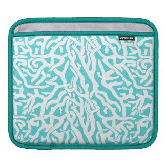 Housse Pour iPad Bleu blanc nautique de motif de récif coralien de