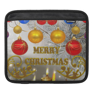 Housse Pour iPad Bougies de Noël d'or et d'argent et ampoules