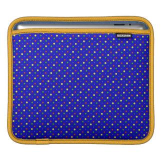 Housse Pour iPad Douille Bleue-iPad de pois primaire horizontale