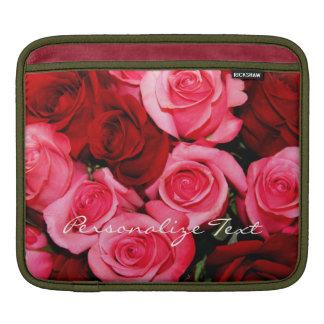 Housse Pour iPad Douille de roses, rose et Rouge-iPad, horizontale