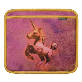 Housse Pour iPad Douille d'iPad de licorne (intensité rouge)