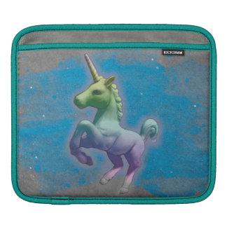 Housse Pour iPad Douille d'iPad de licorne (nébuleuse bleue)