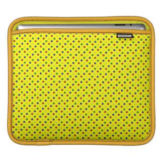 Housse Pour iPad Douille Jaune-iPad de pois primaire horizontale